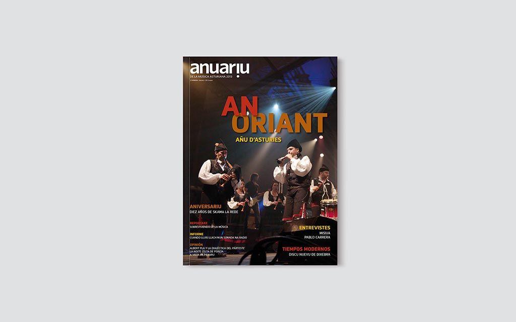 Portada del Anuariu de la Música Asturiana 2013