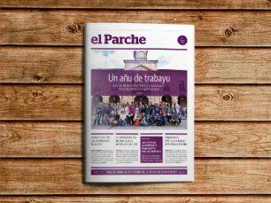 Portada de la revista El Parche editada por Somos Avilés