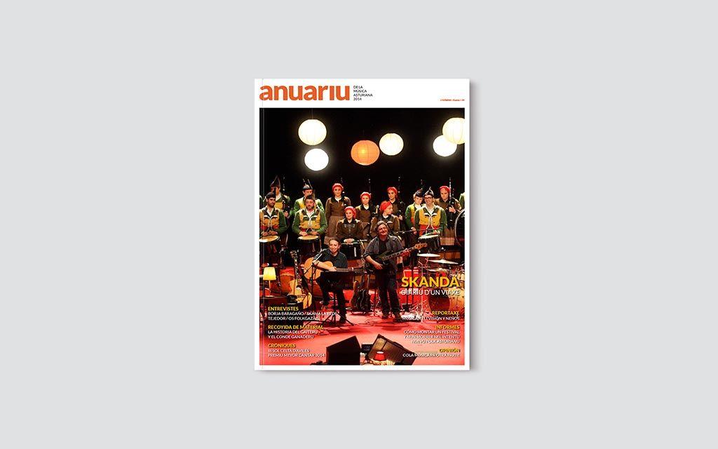 Portada del Anuariu de la Música Asturiana 2014