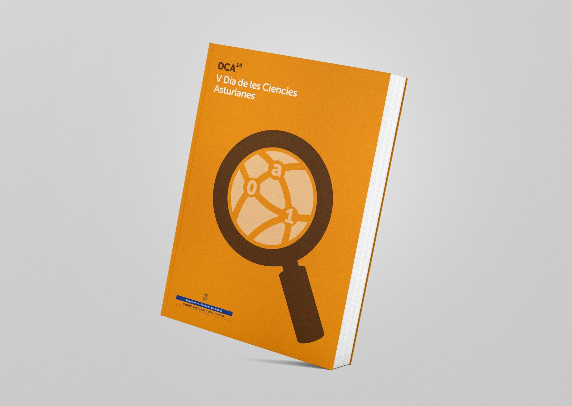 Portada en asturiano del libro para el V Día de les Ciencies Asturianes