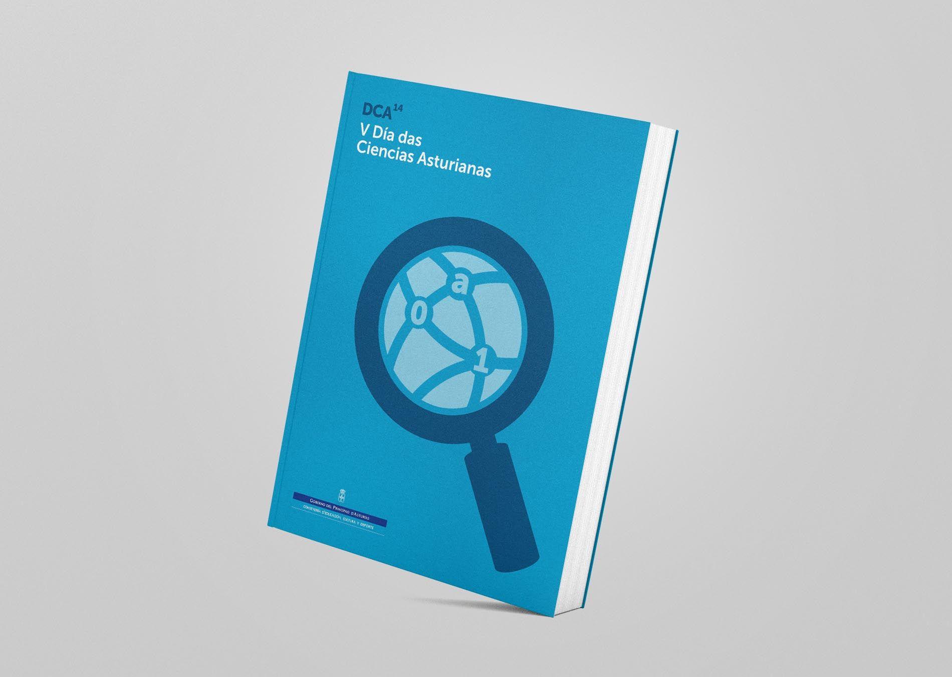 Portada en gallego-asturiano del libro para el V Día de les Ciencies Asturianes
