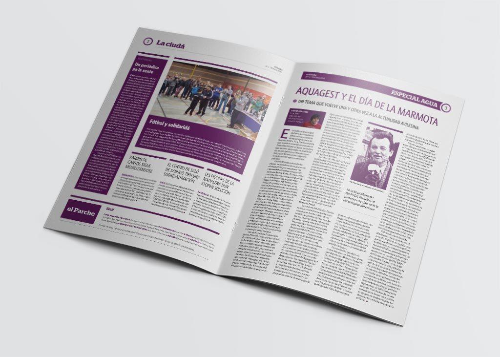 Editorial de la revista El Parche editada por Somos Avilés
