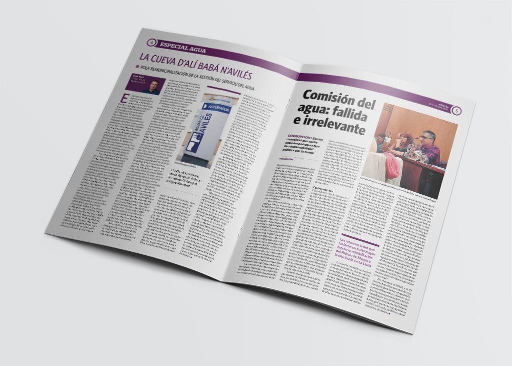 Articulo de la revista El Parche editada por Somos Avilés
