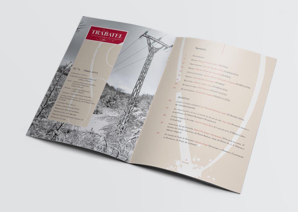 editorial y sumario revista literatura trabatel