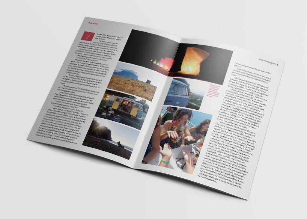 Artículo de viajes de la revista Vërtigu