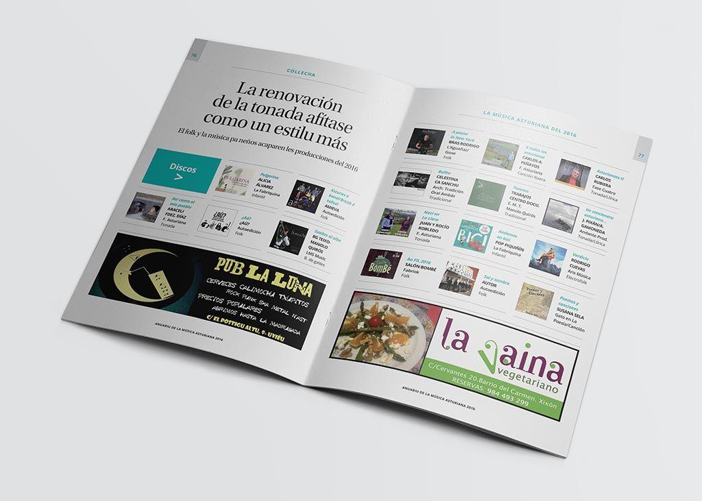 Recopilación de discos del Anuariu de la Música Asturiana 2016
