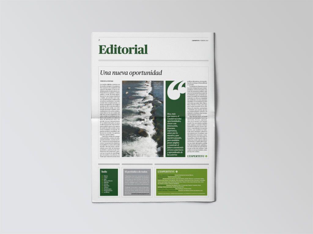 Editorial del periódico L'Esperteyu