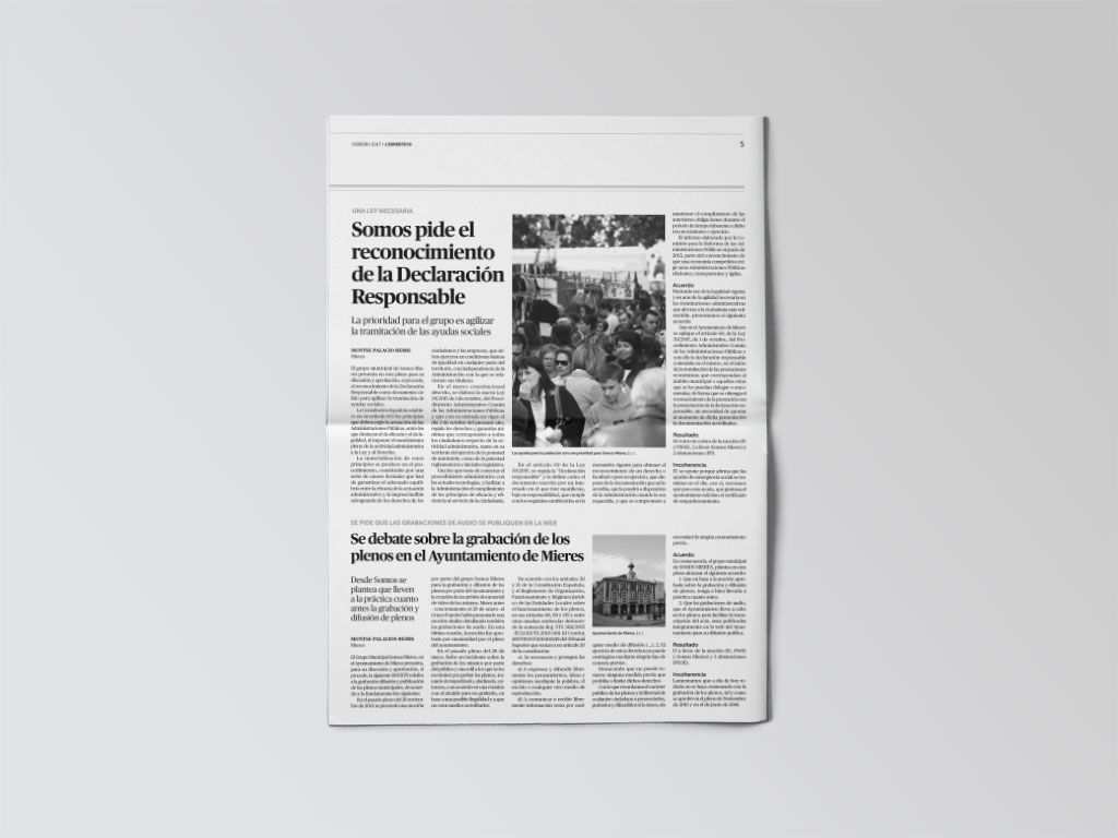 Noticia de Mieres del periódico L'Esperteyu