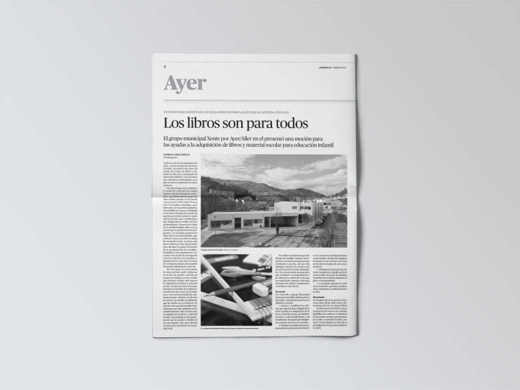 Noticia de Aller del periódico L'Esperteyu