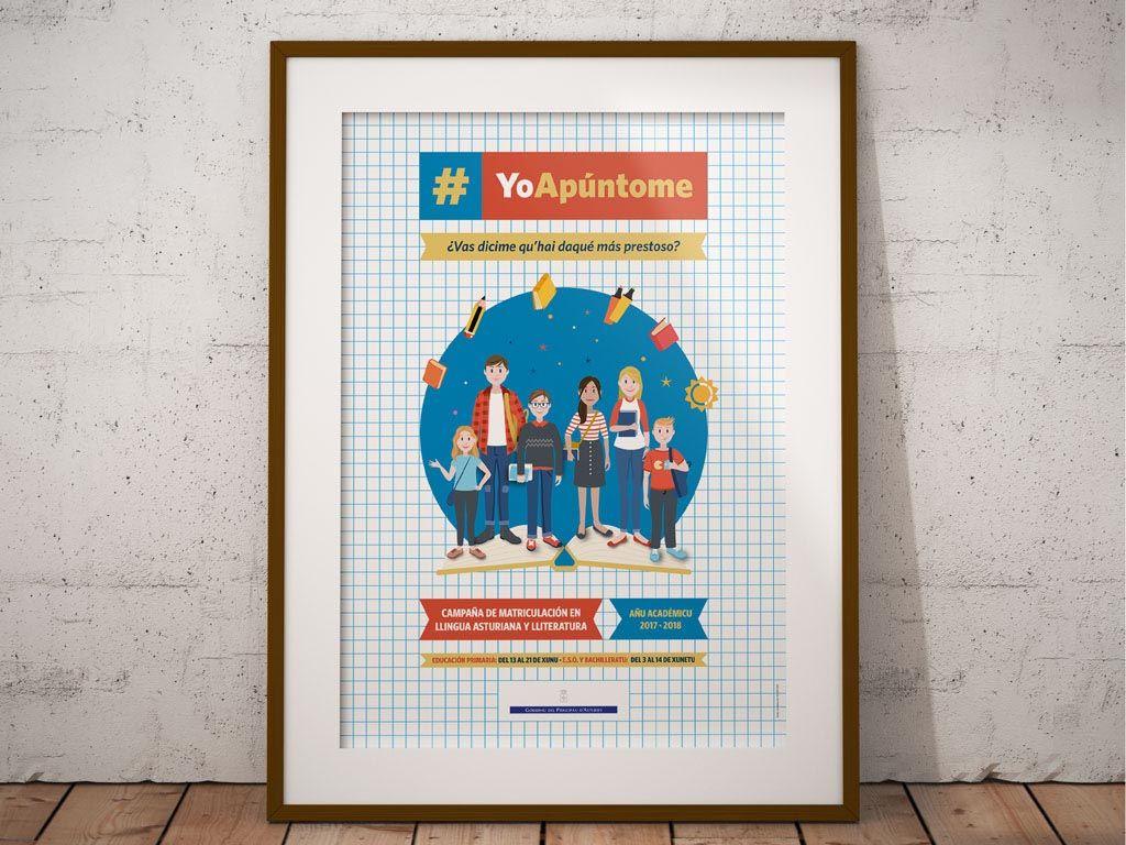 campaña de matriculación en lengua asturiana