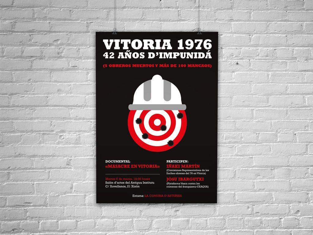Cartel Vitoria 1976 de la Comuna de Asturias