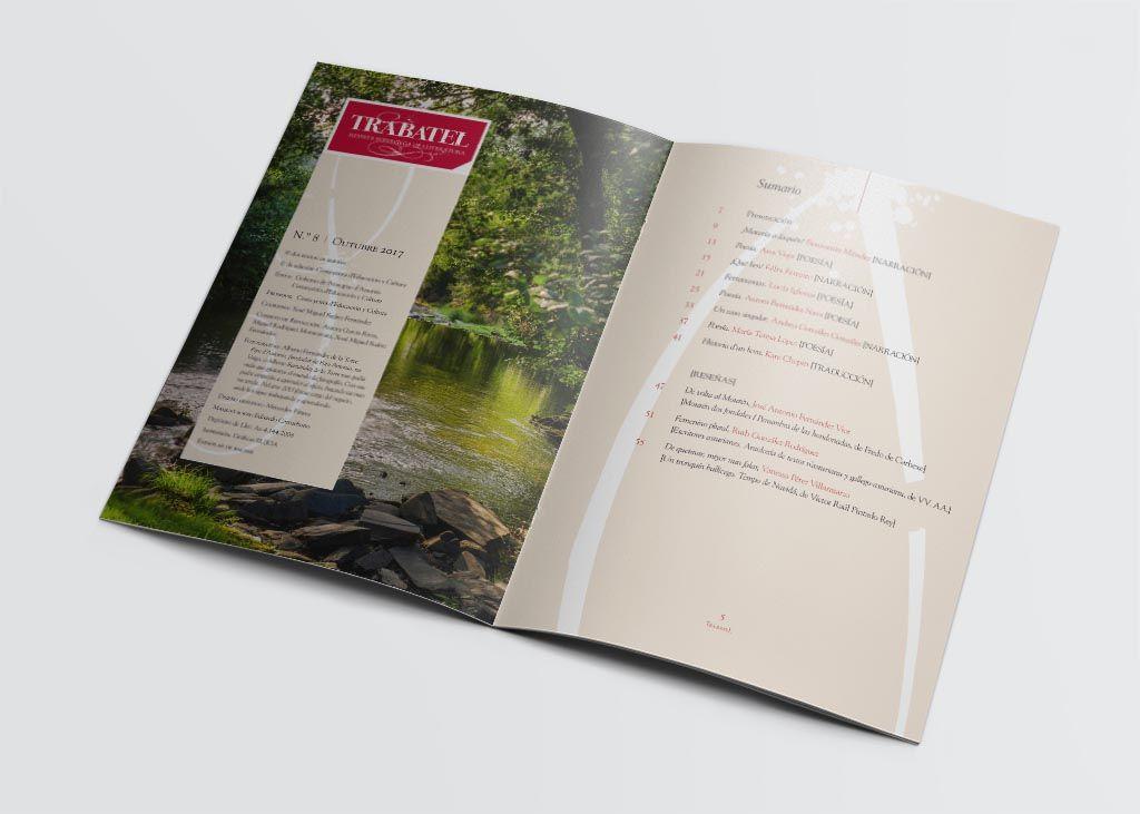 Staff y sumario de la revista Trabatel 2017