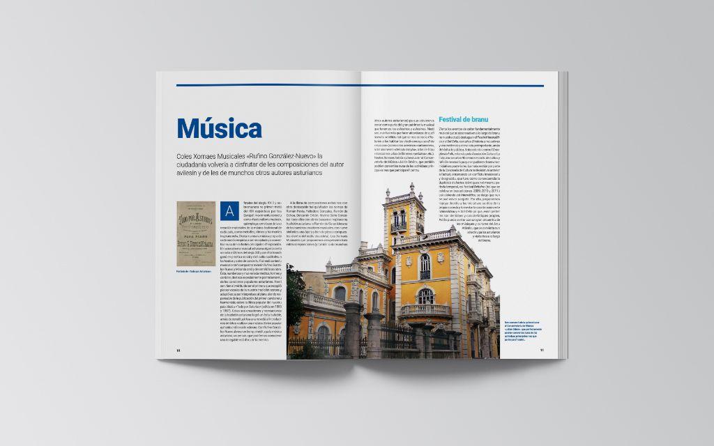 Páginas en asturiano del documento sobre patrimonio inmaterial de Avilés