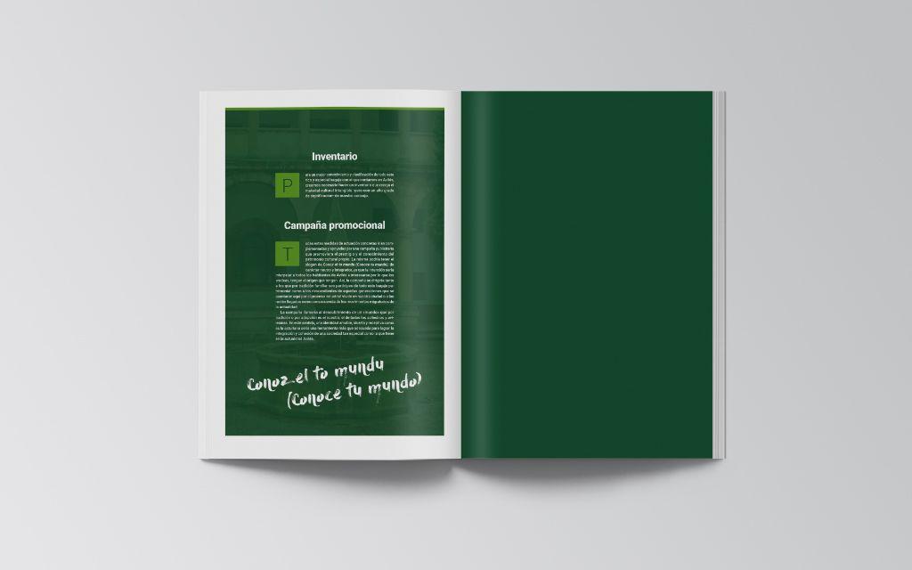 Páginas en castellano del documento sobre patrimonio inmaterial de Avilés